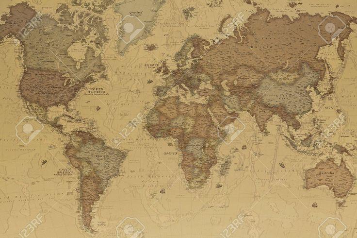 Antica Mappa Geografica Del Mondo Con I Nomi Dei Paesi Foto Royalty Free, Immagini, Immagini E Archivi Fotografici. Image 27546498.