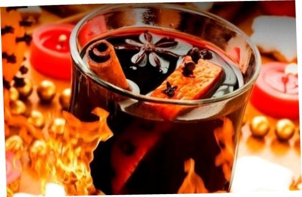 Warming mulled wine