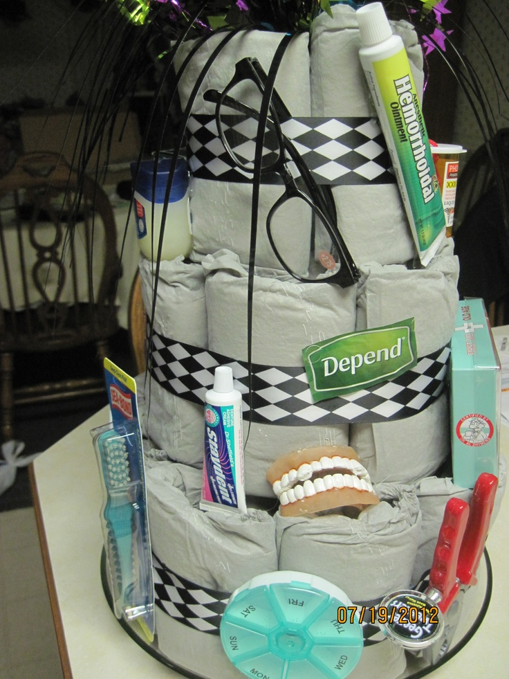 Adult Diaper Cake...to funny not to do this! For Erica lol