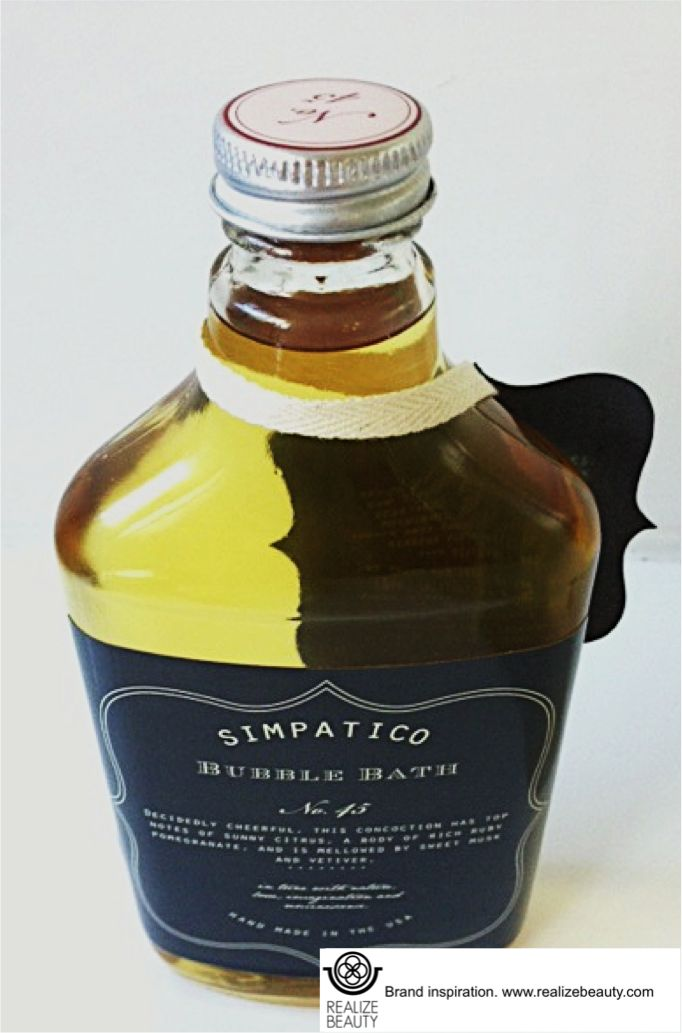 I love the simple luxury behind American brand Simpatico. The glass bottle and hand tied label give this a boutique feel while the scent marketing insures this is top shelf.  Hampton lifestyle anyone?  www.realizebeauty.com
