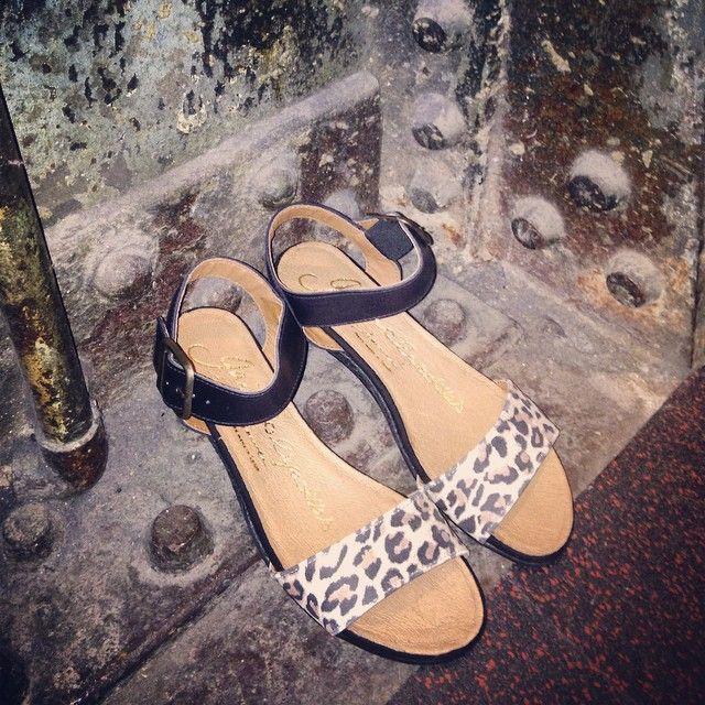 Leo print low wedge sandals. Gaimo. Handmade in Spain. www.pasionshoes.com.au