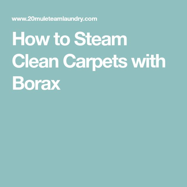 How to Steam Clean Carpets with Borax