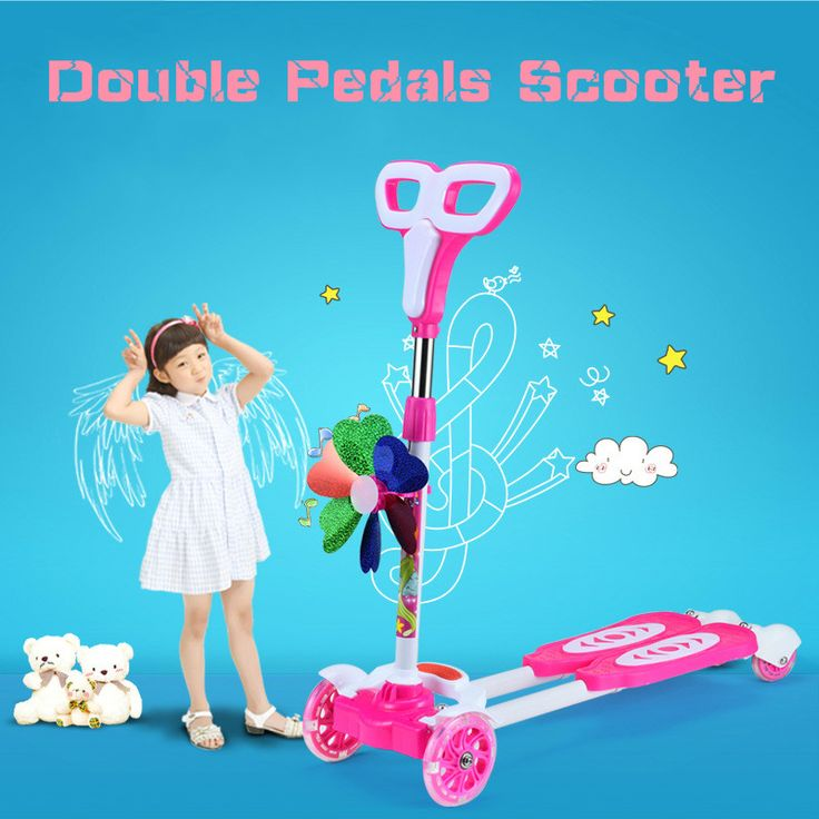 Four Wheel Scooter 3-12 year old Kids Best Quality Kids Scooter For Sale Full Flash PU Wheel Within 35KG