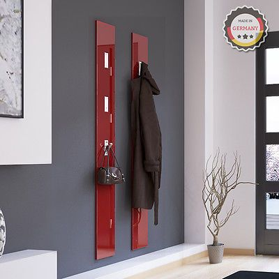 Wall panel hinged hook coat rack hook rail wall coat rack, hall coat rack red in Home, Furniture & DIY,Storage Solutions,Wall Hooks & Door Hangers | eBay