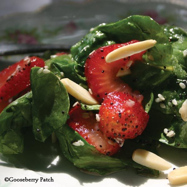 Gooseberry Patch Recipes: Fresh Spinach Salad with Strawberries from Get-Togethers with Gooseberry Patch Cookbook