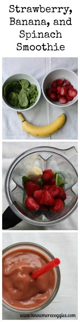StrawberryBananaSpinachSmoothie Collage