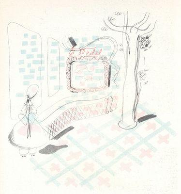"""Włodzimierz Padlewski, Stoisko Fabryki Czekolady E. Wedel S.A, Wystawa Światowa """"Sztuka i Technika"""", Paryż, 1937. Rys. Stanisława Sandecka, Maciej Nowicki"""