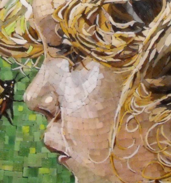 Mosaic Artist - Atsuko Laskaris - Secret Between You and Me - Face Detail  Great artist, great mosaic site