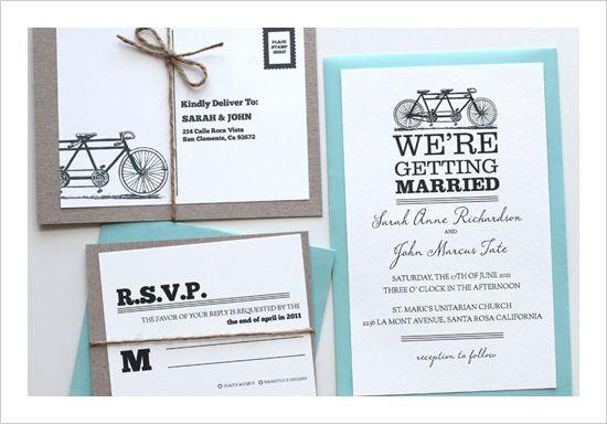 Invitatie nunta biciclete