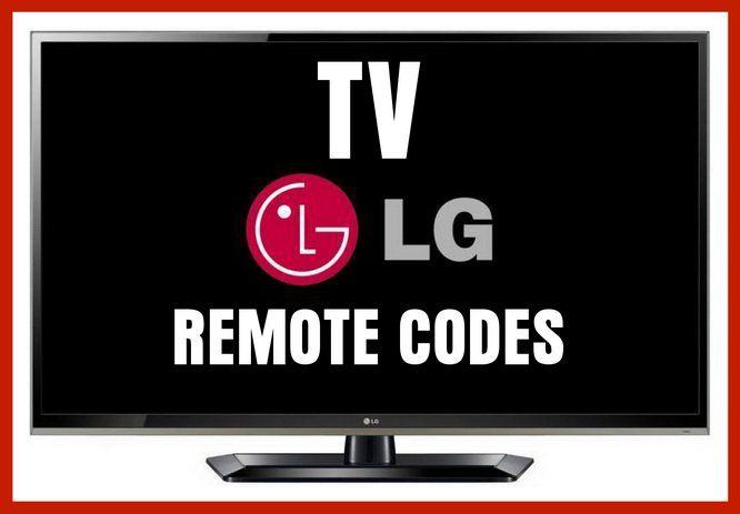 Remote Control Codes For Lg Tvs Remote Control