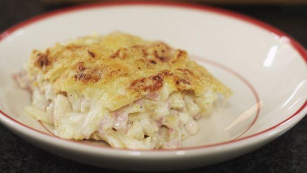 Eén - Dagelijkse kost - macaroni met ham en kaas met speltmacaroni en speltbloem