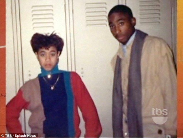 Close pals: Jada and Tupac were close friends and classmates at Baltimore School Of The Arts in the 1980s