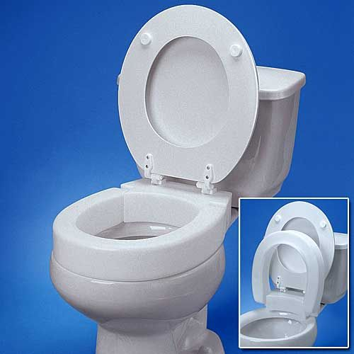 Patented Hinged Elevated Toilet Seat For Easier Sitting