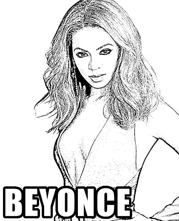 Beyonce colouring page celebrities