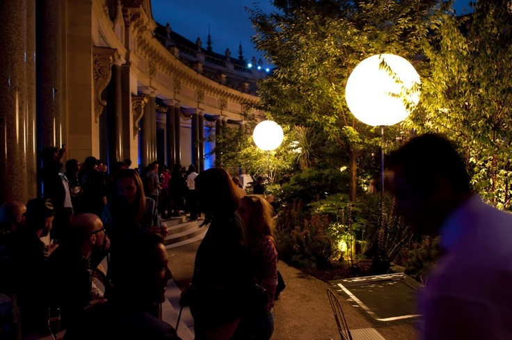 The outdoor garden at the Petit Palais in Paris...one of my favorite spots in the world. Here it is at night for a Jonathan Adler for Lacoste party...that would have been major.
