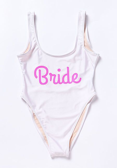 f5cdd158a15 Private Party Bride Or Die Swimsuit Monokini - Private Party - Brands  #slogan#swimwear#wedding