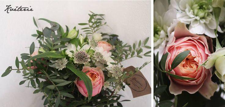 Vuvuzela roses  with astrantia bouquet
