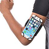 TFY Open-face Sport Armband + Key Holder for Over 5.5 Inch Cell Phone - (Open-face Design - Direct Access to Touch Screen Controls) - Iphone 6/6S Plus - Galaxy A7/ E7 / S7 Edge - Sony Xperia Z3 & Xperia C3 - Samsung Galaxy Note 2 (N7100) / Note 3 (N900) / Note 4 (N9100) / Mega - HTE Desire 816 / 820