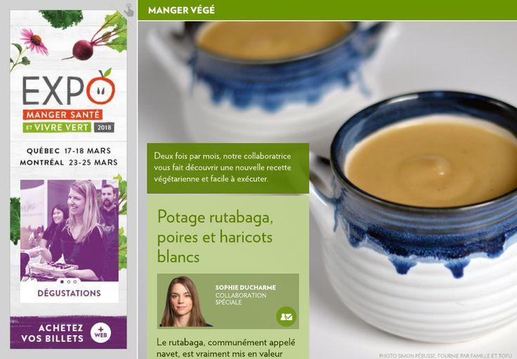 Potage rutabaga, poires et haricots blancs - La Presse+