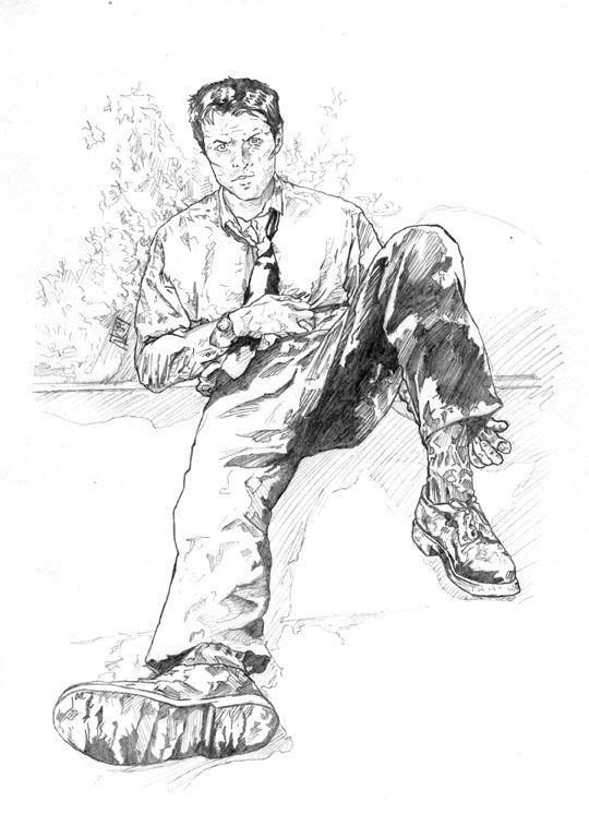 castiel coloring pages - photo#28
