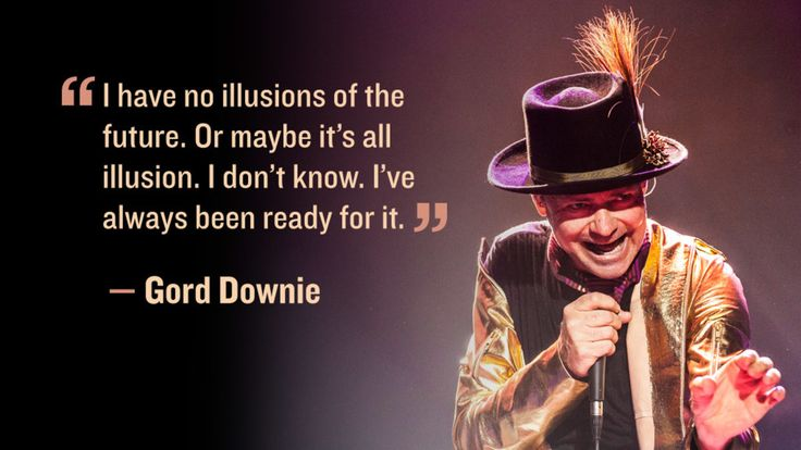 Gord Downie talks about the future and illusions.