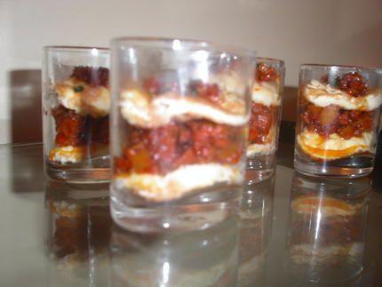 recette verrine chorizo huevos