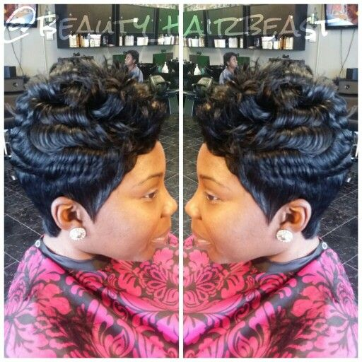Short 27 Piece Quick Weave Natural Looking Short Cuts Hair