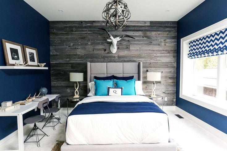 Popular Navy Color Master Bedroom Decoration Ideas Bedroom Color Schemes Bedroom Colors Master Bedrooms Decor Rustic blue bedroom ideas