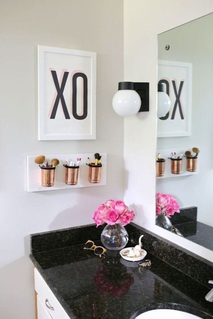Black,+White,+And+Gold+Bathroom+Decor+Ideas   Apartment In 2019 intended for Mos… – Dreams