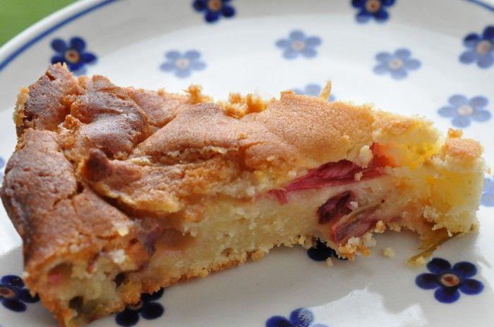 Mazarintærte med rabarber