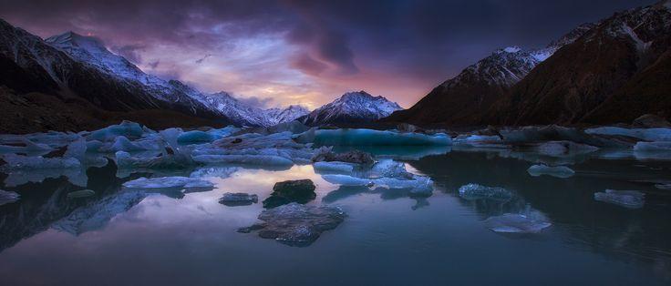 Dream Time. - Lake Tasman, Mount Cook, New Zealand.  Darren J