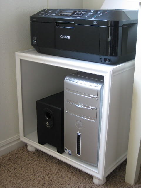 TDA decorating and design: DIY Printer/Hard Drive Storage Stand Tutorial