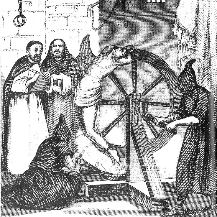 Help! Clergy take notes during the Spanish Inquisition