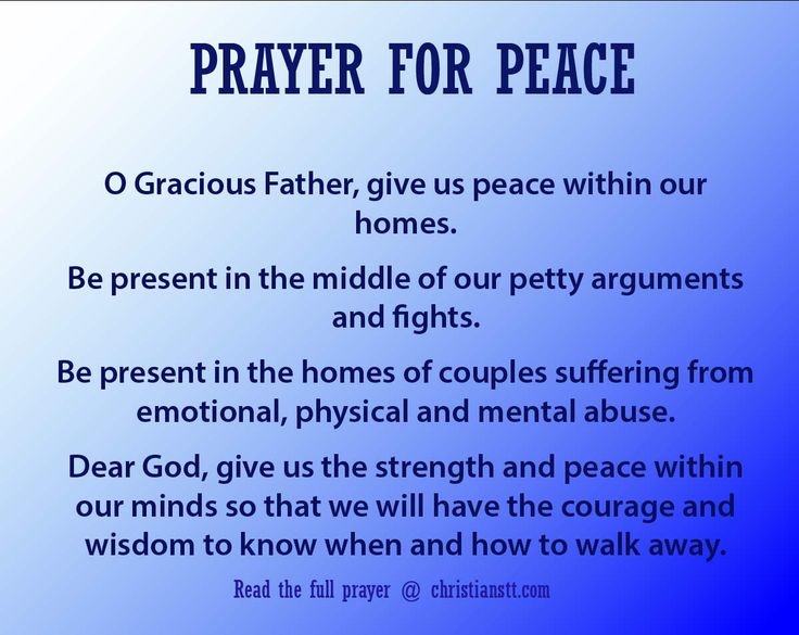 Prayer for Peace: Finding The Peace Of God Through The ...
