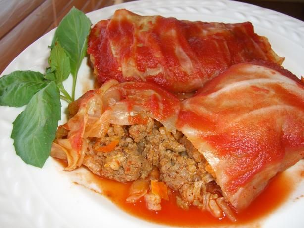 Polish Stuffed Cabbage Rolls. Recipe - Food.com - 110790    making this tonight!