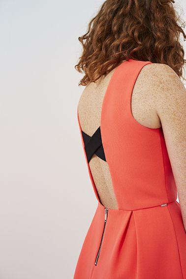 Robe corail décolleté dos IKKS Women, collection femme Printemps/Eté 2017  womenstyle
