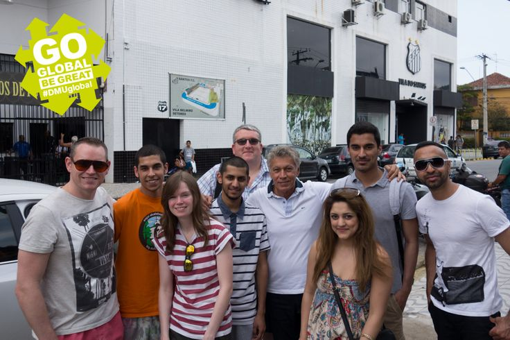 Our #DMUglobal students bumped into a Brazilian footballing legend during their adventure. Here they are with Clodoaldo who was part of Brazil's 1970 World Cup-winning team!