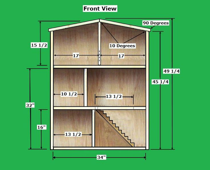 www.barbiedoll house plan | To find the Free Dollhouse Plans that we used from rodswoodworking go ...