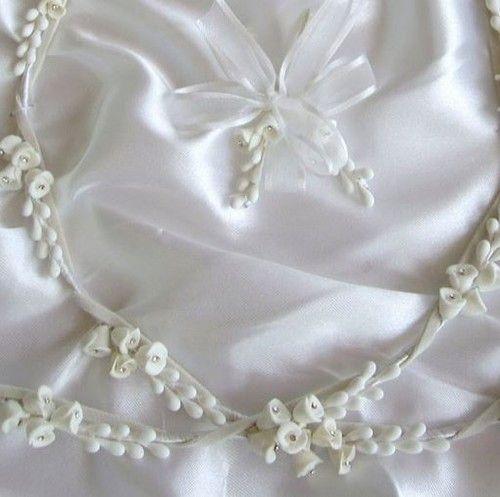 White Flowers with Diamante Centre Wedding Crowns - Greek Orthodox Stefana
