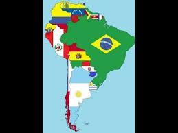 Resultado de imagen para lamina de america latina banderas