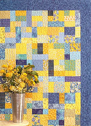 Yellow Brick Road by Atkinson Designs My first four quilts were this pattern in the larger baby size with no border between squares and binding.  I really like how they turned out. Fat Quarter Quilt and beginner friendly.