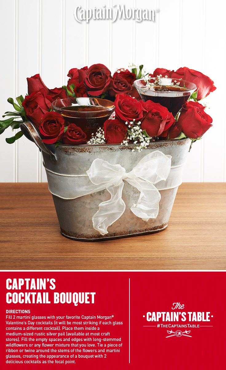 A creative Valentine's gift idea that would make anyone swoon! #Captain #Morgan #rum #drinks #cocktails #recipe #CaptainsTable