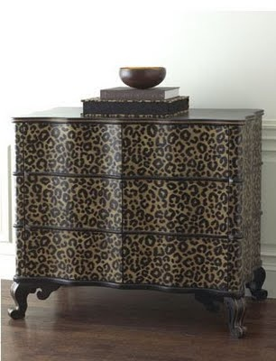 Cheetah Print Dresser. Would look awesome in my room right now :)