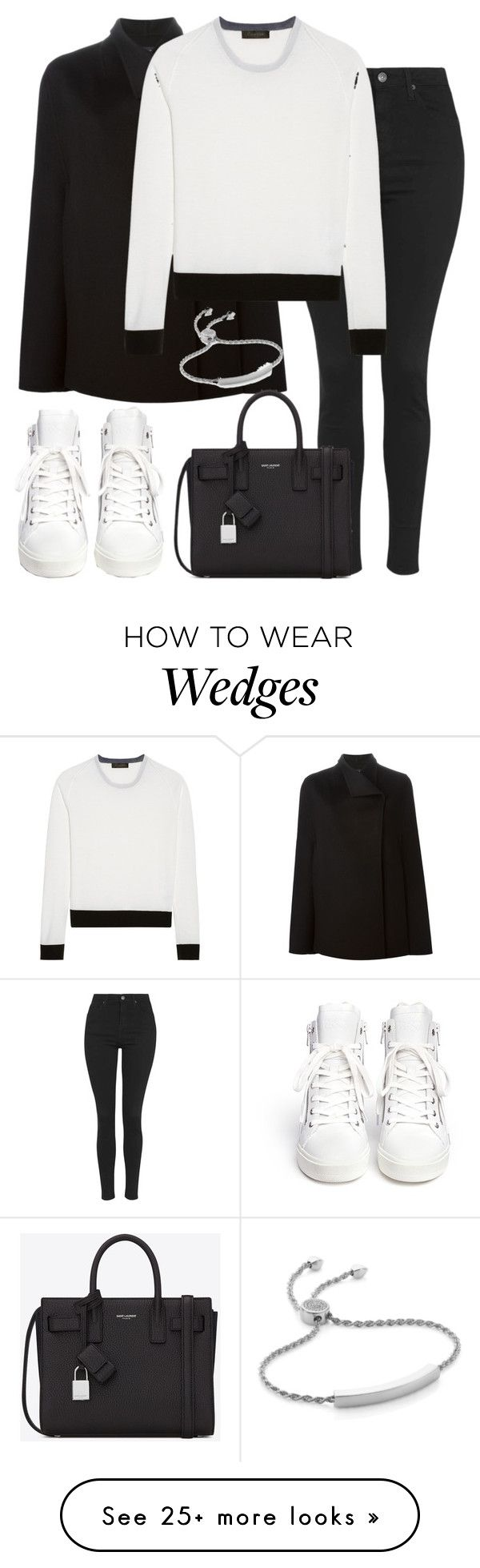 """""""Untitled #2316"""" by elenaday on Polyvore featuring Joseph, Topshop, Calvin Klein Collection, Yves Saint Laurent, Ash and Monica Vinader"""