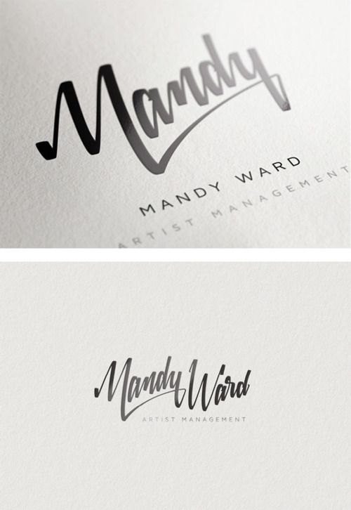 custom typography in branding | Mandy Ward identity