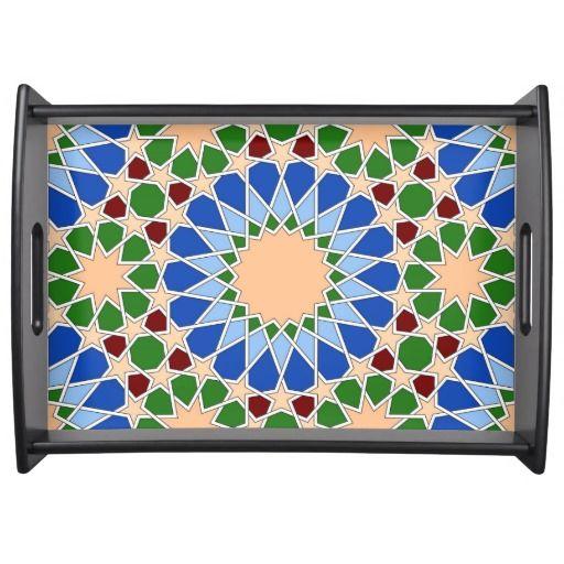Islamic geometric pattern service trays