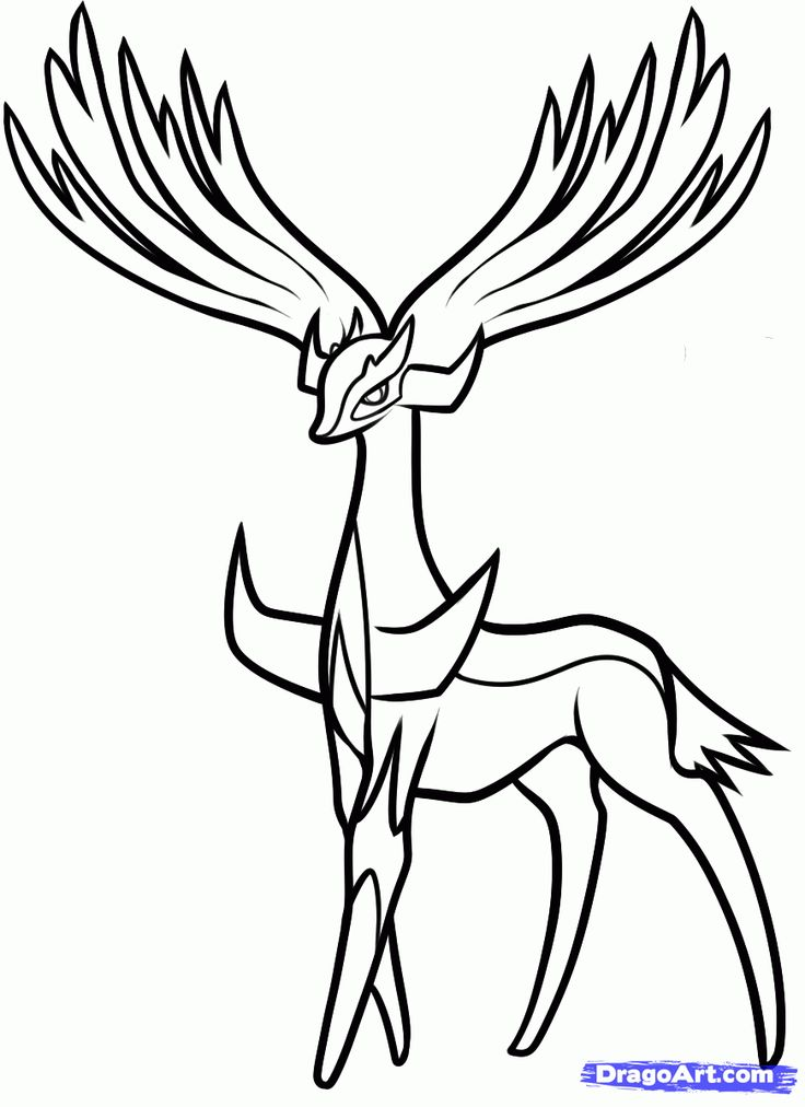How To Draw Xerneas Pokemon X And Y Step By Characters 1