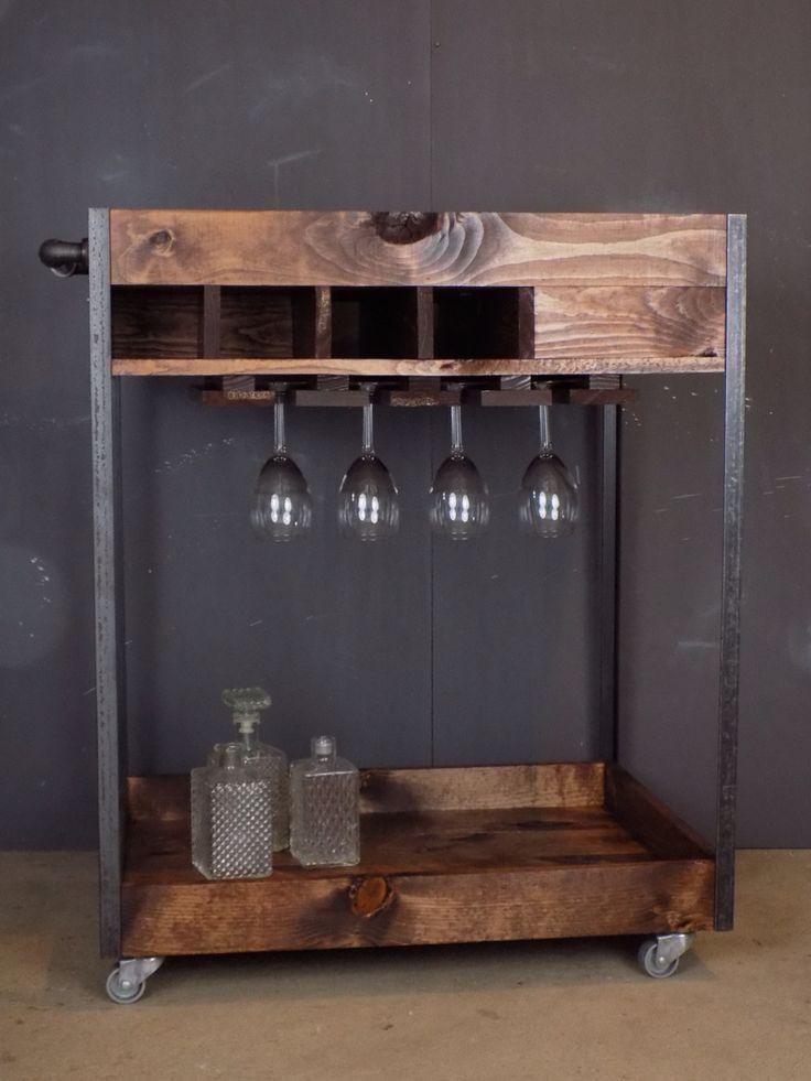 Best 25 Industrial Bar Cart Ideas On Pinterest Bar Cart