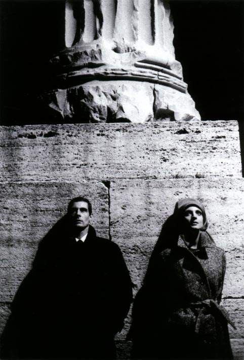 "Ugo Mulas, Rome, 1962. ""Me and you. Close but distant, just a step to destroy and another to love us. """