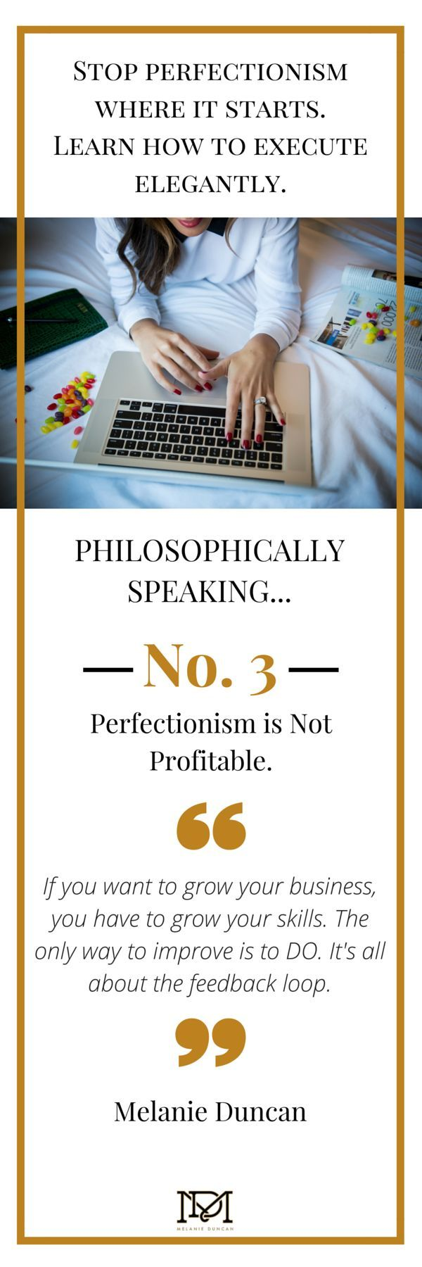 Do you spend HOURS on a task that should only take minutes? Stop giving into your perfectionism habits and learn how to execute quickly and elegantly.